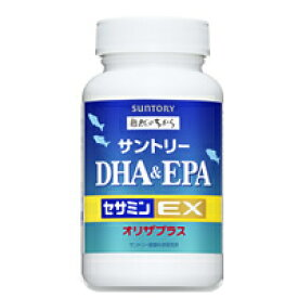 青魚のサラサラ成分DHAとEPA。サントリー DHA&EPA+セサミンEX 240粒
