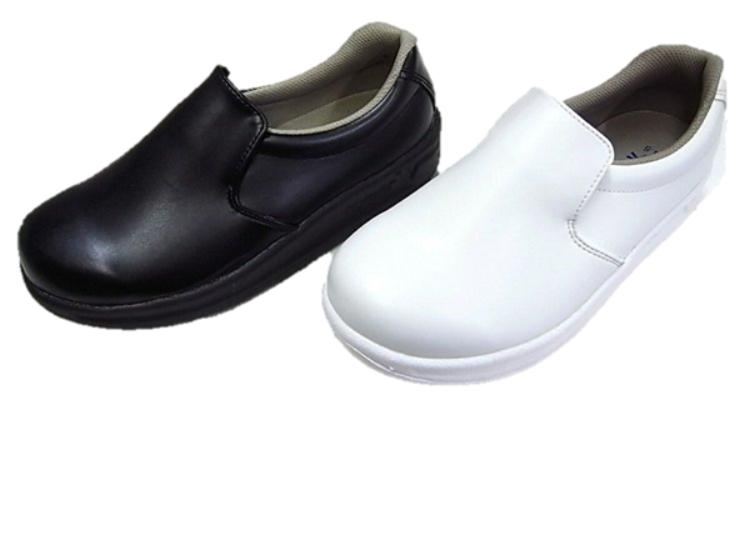 ※送料無料※ 厨房用シューズ コックシューズ TV等で紹介され話題の「世界一滑りにくい靴」 クッキングシューズ ハイパーV #5000 HyperVソール 日進ゴム