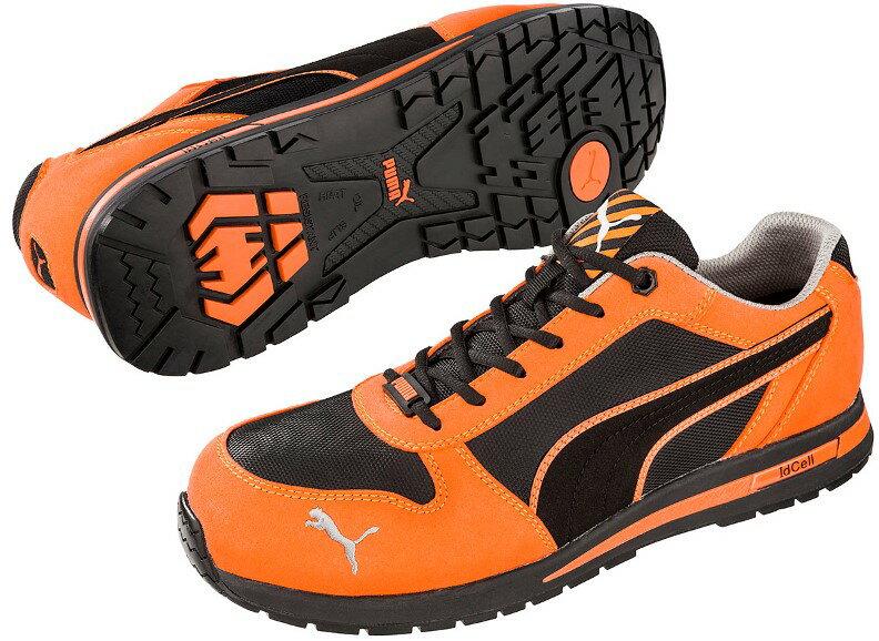 ◇送料無料◇ 【JSAA A種】安全靴 PUMA プーマ セーフティスニーカー  安全靴スニーカー No.64.323.0 エアツイスト オレンジ ロー