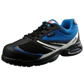 安全靴 Simon シモン 軽技スペシャル JSAA B種認定 大きいサイズ KS702 ネイビー×ブルー 送料無料