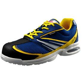 安全靴 Simon シモン 軽技スペシャル JSAA B種認定 大きいサイズ KS702 ブルー×イエロー 送料無料