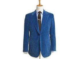 ◆キートン◆メンズジャケット コーデュロイ カシミア混 ブルー KITON ♯48 税込 【中古】【RCP】