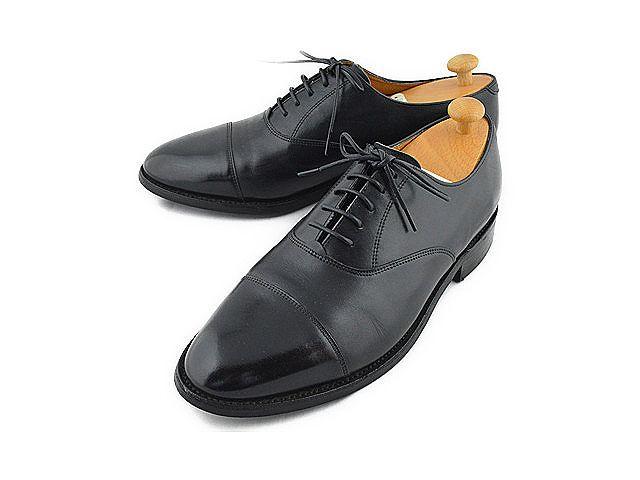 ◆ロイドフットウェア◆Lloyd Footwear キャップトゥ ストレートチップ ダイナイトソール 黒 ツリー付き 税込 【中古】【RCP】