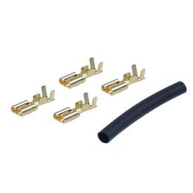 【送料無料】イーグル 平型モーターコネクター(ゴールド)収縮チューブ付(4) 品番3681