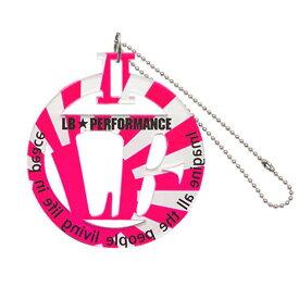 LBパーキングプレート ピンク日章 品番PP2-PKNI