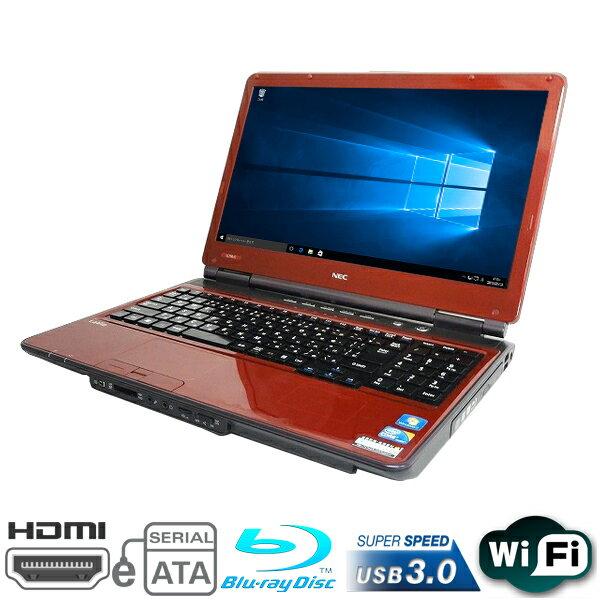 現品一台限り 15.6型HDワイド NEC製 LaVie LL750/C Core i5 460M-2.53GHz メモリ4GB HDD500GB BD-REドライブ 無線LAN内蔵 Windows10 Home 64bit済 プロダクトキー付【HDMI,テンキー,eSATA,IEEE 1394,USB3.0】【中古】