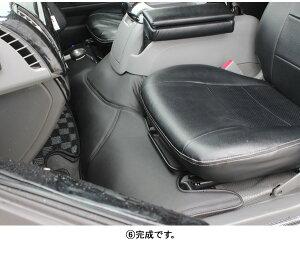 ハイエース200系GL/SGLコンソール付き車用フロントデッキカバー足元カバー黒/ブラック