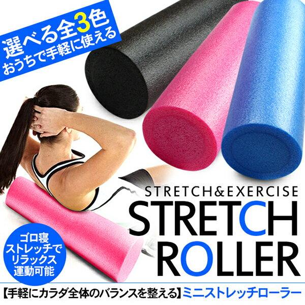 ヨガポール/ハーフサイズ ストレッチ フォームローラー ミニ エクササイズポール 体幹トレーニング