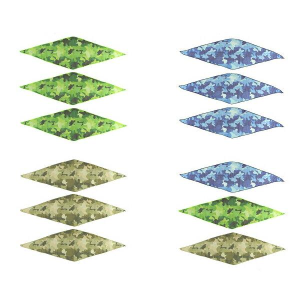 ペット用 虫よけ バンダナ メッシュタイプ 迷彩柄 3枚セット 首輪 スカーフ 首巻き 虫除け 散歩グッズ 迷彩 カモフラ 菱型