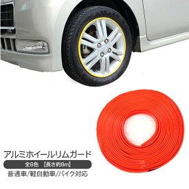 リムガード/アルミホイールリムガード 8m/ホイール保護 タイヤホイール用 リムラインモール 【202012ss50】