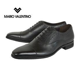 ビジネスシューズ メンズ マリオヴァレンティーノ メンズ MARIO VALENTINO[MR3039]Black 黒 ブラック ストレートチップ 革靴 結婚式 冠婚葬祭 就活 レースアップ 3E EEE