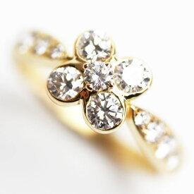 【MR3614】Van Cleef & Arpels ヴァンクリーフアーペル オンベル 750 イエローゴールド ダイヤモンドリング サイズ10号(刻印50)★【中古】【美品】【質屋出品】【あす楽】