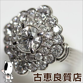 【MR483】Pt プラチナダイヤリング 指輪 D.1.181ct/0.771ct 10.1g リングサイズ8号【中古】【美品】【中古】【質屋出品】【あす楽】