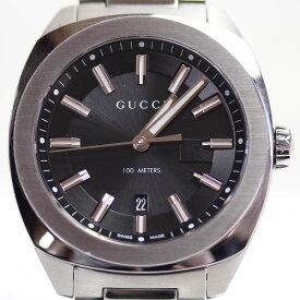 【MT1687】★【中古】GUCCI グッチ GG2570 YA142301 41mm SS クオーツ QZ 黒文字盤 メンズ 腕時計★【質屋出品】【あす楽】