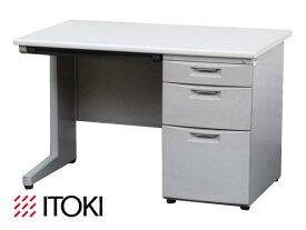【中古】イトーキ CZデスクシリーズ 片袖デスク W1100 鍵付【中古オフィス家具】