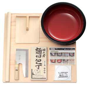 【送料無料】麺打セット6点(中級)♪麺打入門DVD付♪【そば打ち道具】【父の日】