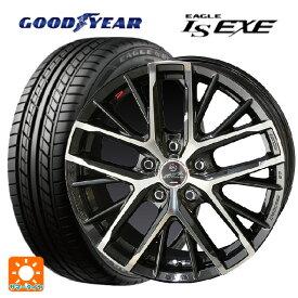 245/45R18 100W XL グッドイヤー イーグル LS EXEスマック レヴィラ サファイアブラックポリッシュ 18-8J新品サマータイヤホイール4本セット