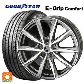 185/60R16 86H グッドイヤー エフィシェントグリップ コンフォートスマック バサルト プライムグレーメタリック×ポリッシュ 16-6.5J新品サマータイヤホイール4本セット
