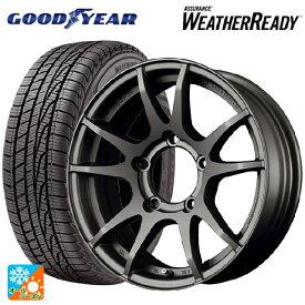 215/70R16 100T グッドイヤー アシュアランス ウェザーレディグラムライツ 57JV MF 16-5.5J新品オールシーズンタイヤホイール4本セット
