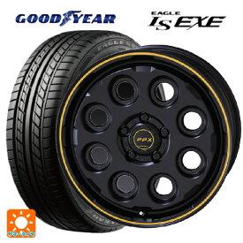 225/45R17 91W グッドイヤー イーグル LS EXEピーピーエックス ミル8 セミグロスブラック×イエローライン 17-7J新品サマータイヤホイール4本セット
