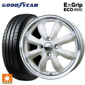 165/55R15 75V グッドイヤー エフィシェントグリップ エコ EG02ララパーム カップ PW/リムP 15-4.5J新品サマータイヤホイール4本セット