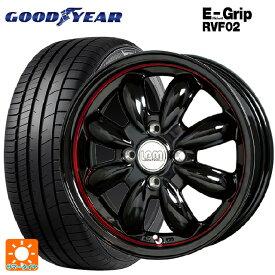 185/60R15 84H グッドイヤー エフィシェントグリップ RVF02ララパーム カップ BK/RC 15-5.5J新品サマータイヤホイール4本セット