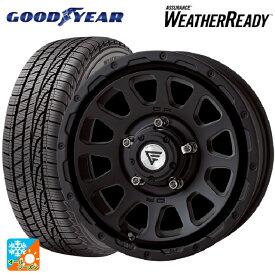 215/70R16 100T グッドイヤー アシュアランス ウェザーレディデルタフォース オーバル マットブラック 16-5.5J新品オールシーズンタイヤホイール4本セット