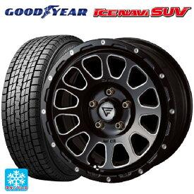 225/60R17 99Q グッドイヤー アイスナビ SUVデルタフォース オーバル ブラックマシニング 17-7J新品スタッドレスタイヤホイール4本セット