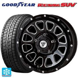 225/70R16 103Q グッドイヤー アイスナビ SUVデルタフォース オーバル ブラックマシニング 16-5.5J新品スタッドレスタイヤホイール4本セット