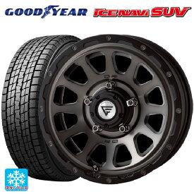 225/70R16 103Q グッドイヤー アイスナビ SUVデルタフォース オーバル マットスモークポリッシュ 16-6J新品スタッドレスタイヤホイール4本セット