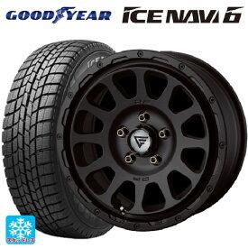 235/45R17 94Q グッドイヤー アイスナビ6デルタフォース オーバル マットブラック 17-7J新品スタッドレスタイヤホイール4本セット