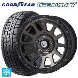 225/45R17 91Q グッドイヤー アイスナビ7デルタフォース オーバル マットスモークポリッシュ 17-7J新品スタッドレスタイヤホイール4本セット