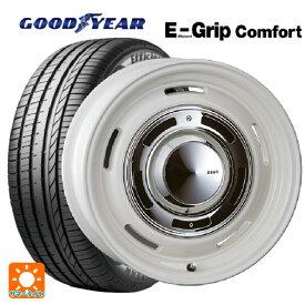185/60R16 86H グッドイヤー エフィシェントグリップ コンフォートディーン クロスカントリー マーガレットホワイト 16-6J新品サマータイヤホイール4本セット