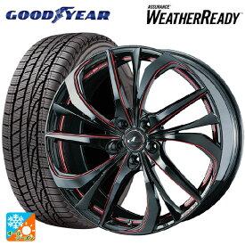 225/65R17 102H グッドイヤー アシュアランス ウェザーレディレオニス TE BK/SC(RED) 17-7J新品オールシーズンタイヤホイール4本セット