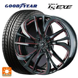 215/45R17 91W XL グッドイヤー イーグル LS EXEレオニス TE BK/SC(RED) 17-7J新品サマータイヤホイール4本セット