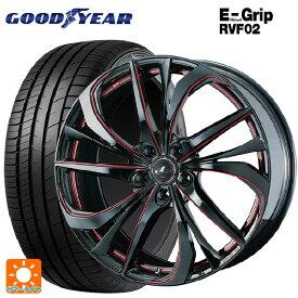 225/60R17 99H グッドイヤー エフィシェントグリップ RVF02レオニス TE BK/SC(RED) 17-7J新品サマータイヤホイール4本セット