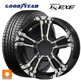 215/65R16 98H グッドイヤー イーグル LS EXEナイトロパワー クロスクロウ ブラックメタリック+ミラーカット 16-5.5J新品サマータイヤホイール4本セット