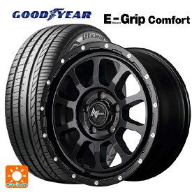 205/45R17 88W XL グッドイヤー エフィシェントグリップ コンフォートナイトロパワー M10パーシングエス セミグロスブラック/マシニング 17-7J新品サマータイヤホイール4本セット