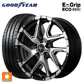 195/55R16 87V グッドイヤー エフィシェントグリップ エコ EG02ナイトロパワーデリンジャー セミグロスブラックポリッシュ/フランジピアスドリルド 16-7J新品サマータイヤホイール4本セット