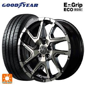 215/55R17 94V グッドイヤー エフィシェントグリップ エコ EG02ナイトロパワーデリンジャー ブラックメタリックポリッシュ/ブラッククリア/フランジピアスドリルド 17-7J新品サマータイヤホイール4本セット