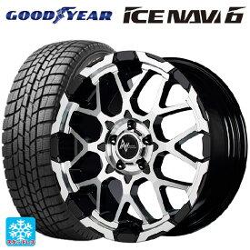 225/45R18 91Q グッドイヤー アイスナビ6ナイトロパワー M28バレットエス ブラックメタリック+ミラーカット 18-7J新品スタッドレスタイヤホイール4本セット