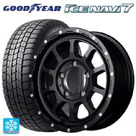 215/65R16 98Q グッドイヤー アイスナビ7ナイトロパワー M10パーシングジェイ セミグロスブラック/マシニング 16-6.5J新品スタッドレスタイヤホイール4本セット