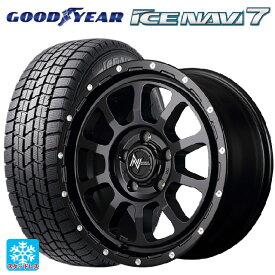 205/45R17 84Q グッドイヤー アイスナビ7ナイトロパワー M10パーシングエス セミグロスブラック/マシニング 17-7J新品スタッドレスタイヤホイール4本セット