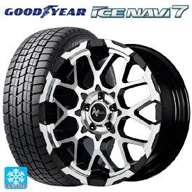 225/40R18 88Q グッドイヤー アイスナビ7ナイトロパワー M28バレットエス ブラックメタリック+ミラーカット 18-7J新品スタッドレスタイヤホイール4本セット