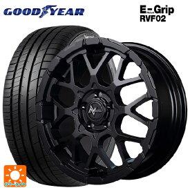 205/55R16 94V XL グッドイヤー エフィシェントグリップ RVF02ナイトロパワー M28バレットエス セミグロスブラック+ピアスドリルド 16-7J新品サマータイヤホイール4本セット