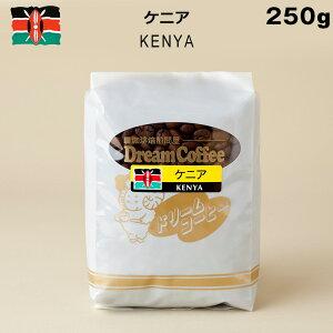 コーヒー豆 250g ケニア100% ドリームコーヒー【メール便送料無料】