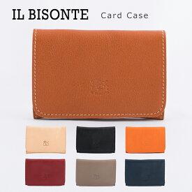 イルビゾンテ 名刺入れ 本革 レザー メンズ レディース カードケース IL BISONTE Card Case C0470 【メール便送料無料】