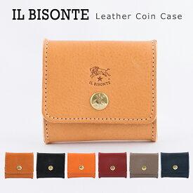 イルビゾンテ 財布 本革 レザー コインケース 小銭入れ ボックス型 メンズ レディース レザーコインケース IL BISONTE Leather Coin Case C0774 【メール便送料無料】