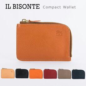 イルビゾンテ 財布 本革 レザー ミニ財布 コインケース L字ファスナー メンズ レディース コンパクトウォレット IL BISONTE Compact Wallet C0852 【メール便送料無料】
