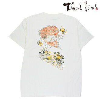 A precedent sale for summer! The brand ☆ old days old days ☆ sum pattern T-shirt ☆ sea bream good luck Mihira ☆ white that is famous for pine っちゃん wearing